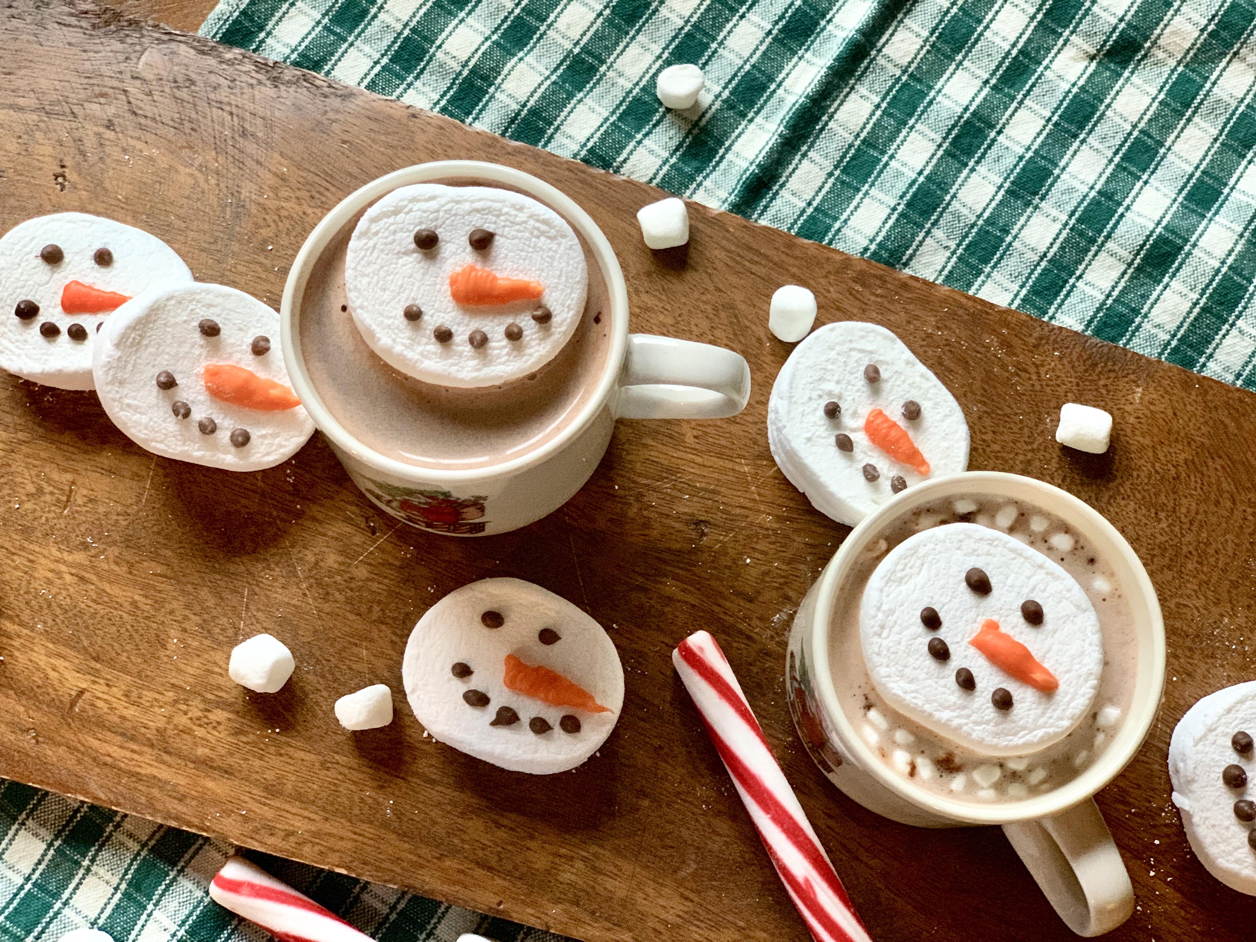Copycat Sur La Table Marshmallow Snowmen Hot Cocoa Toppers